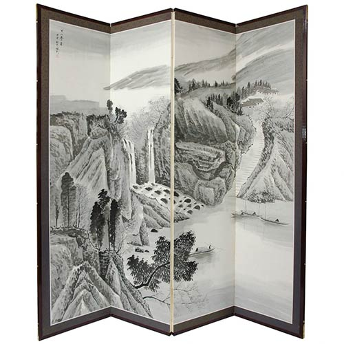 Misty Mountain Shoji Screen :: Traditional Shoji Screens