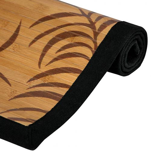 Bamboo Rugs Tropical Leaf Bamboo Rug