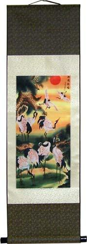 Colorful Cranes :: Chinese Print Scrolls
