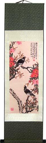 Calling Magpies :: Chinese Print Scrolls