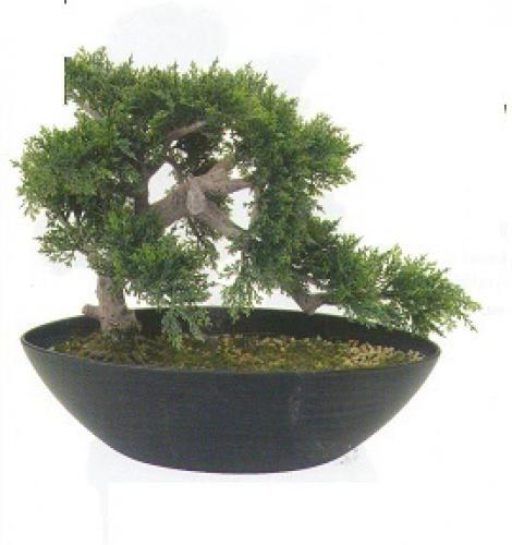 Artificial Bonsai Trees 14 Inch Cedar Bonsai