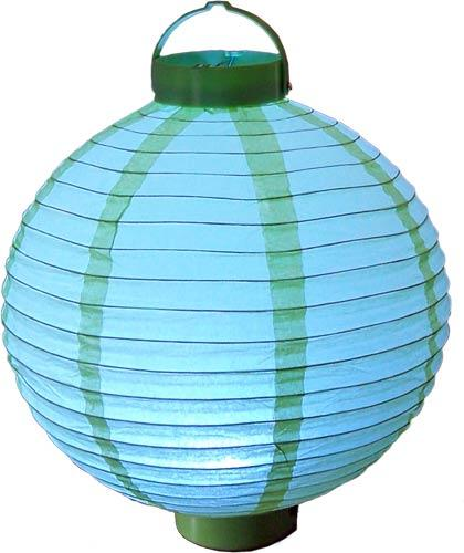 "12"" Glowing Meadow Green Lantern :: Glowing Asian Lanterns"