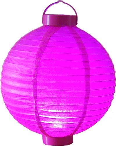 "12"" Glowing Fuschia Lantern :: Glowing Asian Lanterns"