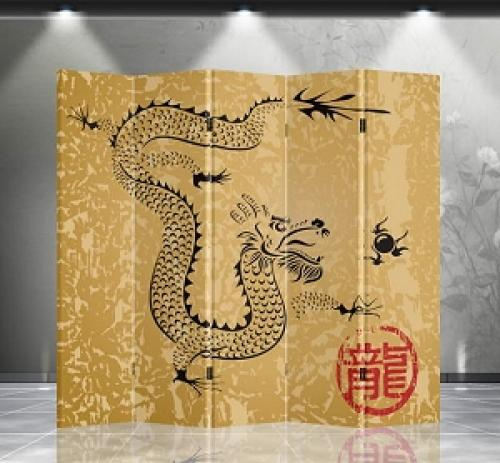 Double Sided Dragon Divider :: Folding Room Dividers