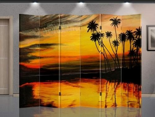 Double Sided Sunset Divider :: Folding Room Dividers