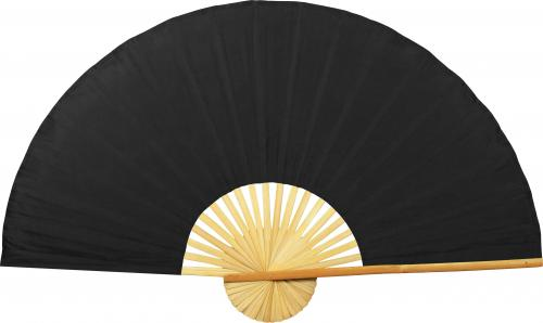 Solid Black Unpainted Fan :: Oriental Wall Fans