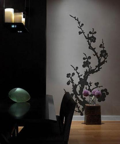 Blooming Branch Wall Decal :: Asian Art Wall Stickers