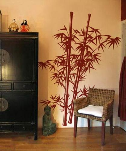 Charmant Lush Bamboo Wall Decal :: Asian Art Wall Stickers