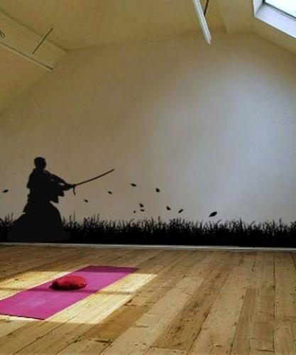 Asian Art Wall Stickers Samurai Swordsmen Wall Decal - Japanese wall decals