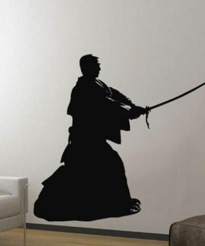 Japanese Ronin Wall Decal :: Asian Art Wall Stickers