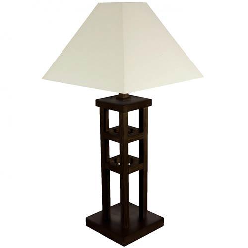 Japanese Lamps 27 Mosko Table Lamp Walnut Finish