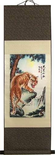 Powerful Tiger :: Chinese Print Scrolls