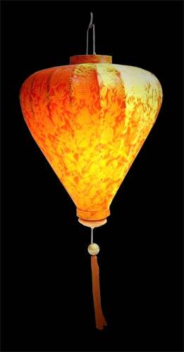 Tangerine Balloon Lantern - Orange :: Silk Lanterns