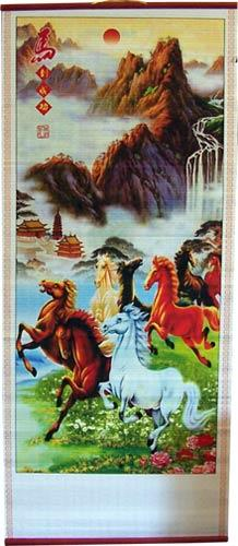 Horses on the Plains Chinese Scroll :: Chinese Scrolls