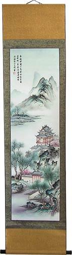 "64"" Tall Misty Summer Scroll :: Chinese Scroll Paintings"
