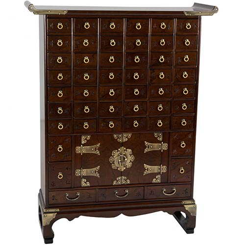 Korean Antique Style 49 Drawer Apothecary Chest :: Asian Style Furniture