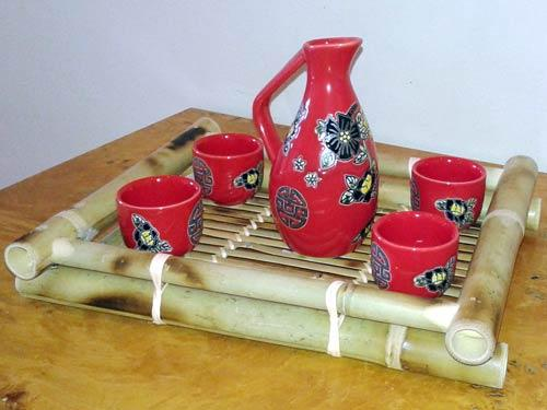 Brilliant Red Sake Set :: Sake Sets