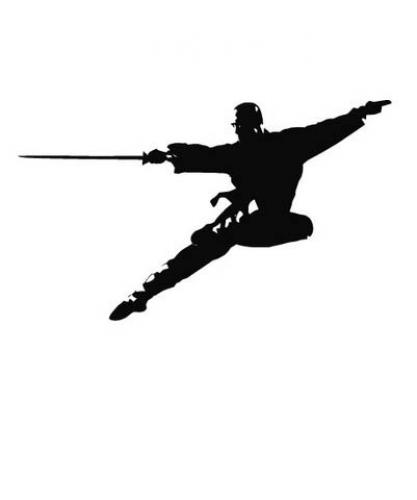 Kung Fu Flying Sword Wall Decal :: Asian Art Wall Stickers