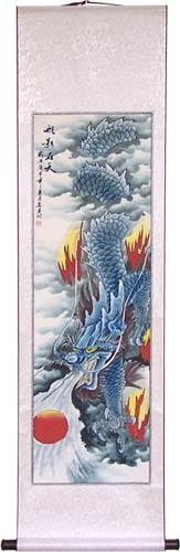 "56"" Cloud Dragon 3 :: Chinese Scroll Paintings"