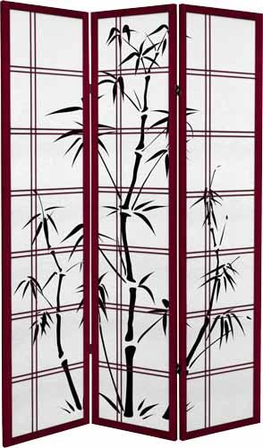 Canvas Bamboo Tree (Redwood Finish) :: Japanese Shoji Screens