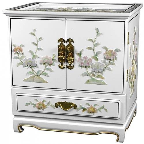 Empress Lacquer Jewel Box (White) :: Oriental Boxes and Trunks