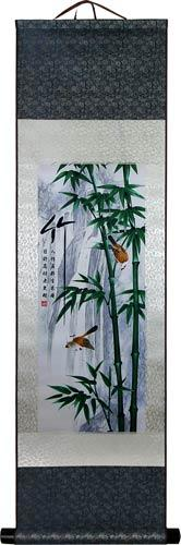 Green Winter Bamboo Stalks :: Chinese Print Scrolls