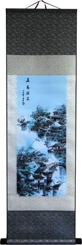 Blue Village Memory :: Chinese Print Scrolls