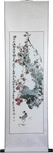 "56"" Watercolor Flowers :: Chinese Scroll Paintings"