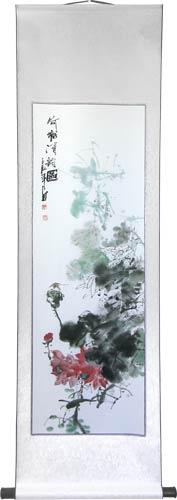 "56"" Watercolor Roses :: Chinese Scroll Paintings"