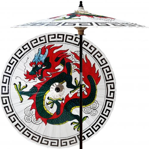 Cool Patio Umbrellas Shaolin Dragon (Beijing White) :: Outdoor Patio Umbrellas