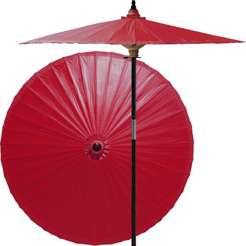 Market Patio Umbrella Oxblood Red :: Market Patio Umbrellas