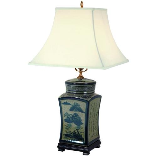 Oriental Table Lamps 25 Quot Blue Amp White Chinese