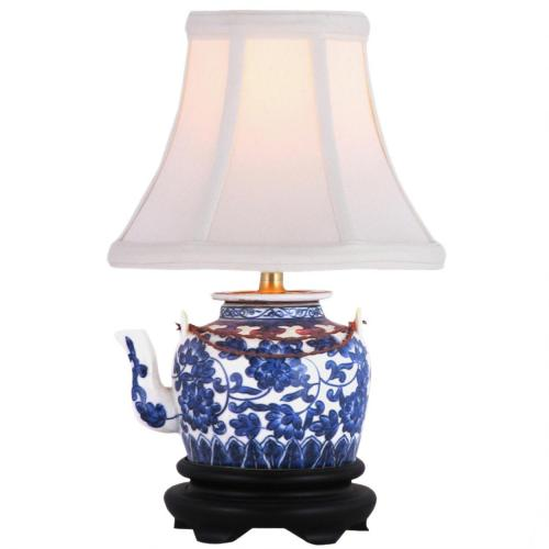 "12"" Tea Pot Lamp :: Oriental Table Lamps"