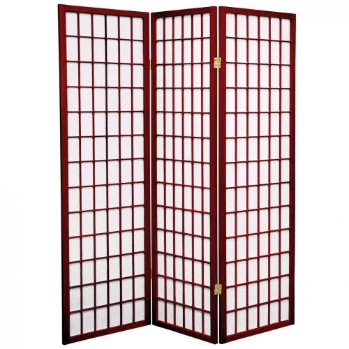 5 ft. Tall Japanese Window Screen (Rosewood Finish) :: Japanese Shoji Screens