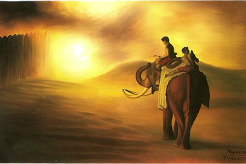Riding Home :: Oriental Paintings