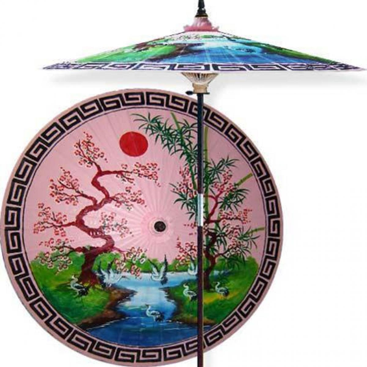 Asian Spring (Pristine Pink). This Extraordinary And Artistic Pink Patio  Umbrella ...