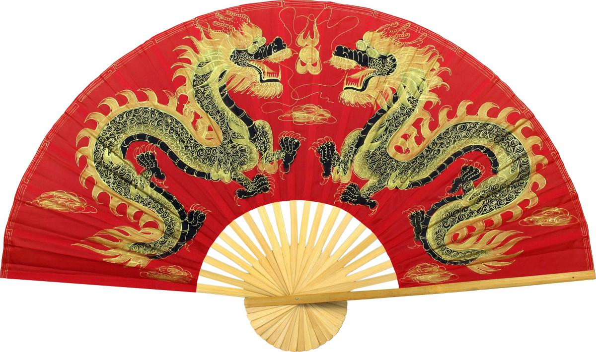 Chinese Wall Fans :: Fiery Dragons
