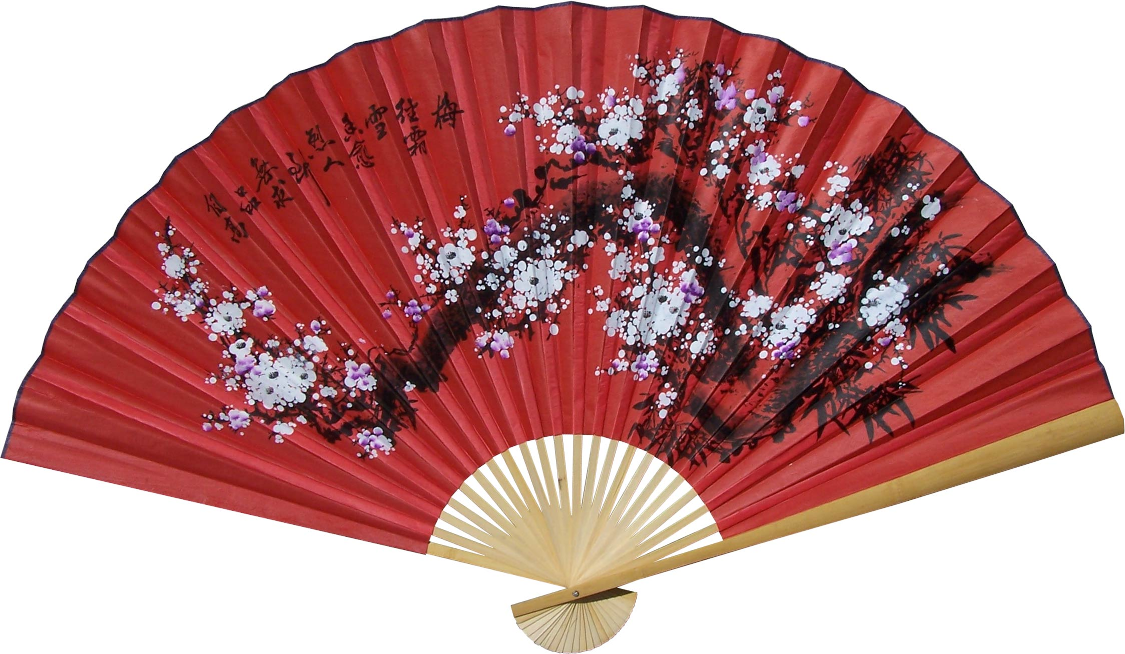 Chinese wall fans prosperity blossoms for Oriental accessories