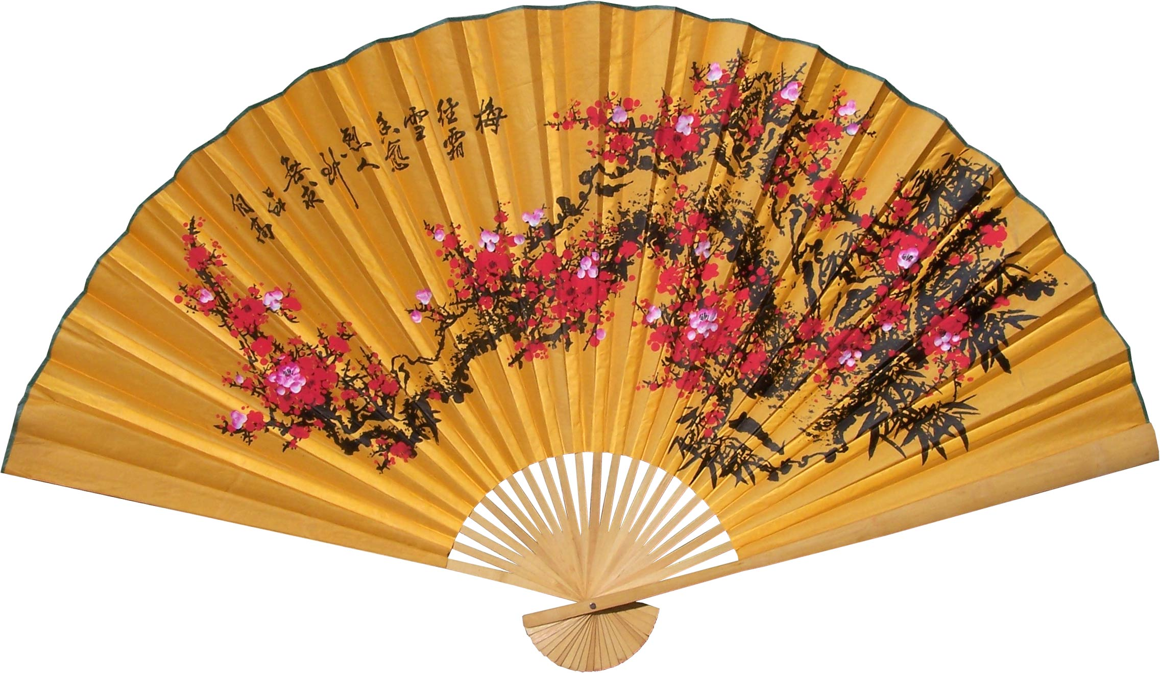 Chinese wall fans lucky blossoms for Oriental accessories