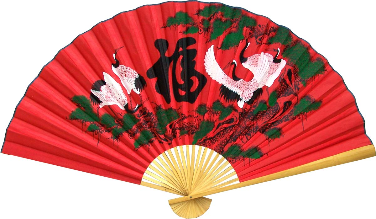 Chinese Wall Fans :: Whirling Cranes