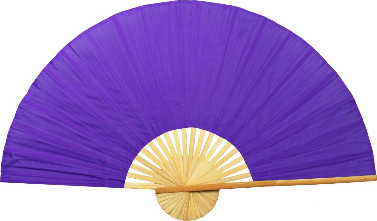 Solid Purple Unpainted Fan - Pretty Asian Wall decorations