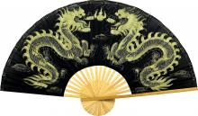 Golden Dragons :: Chinese Wall Fans