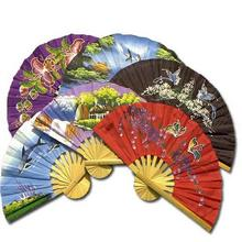 6 Hand Fan Party Pack (Assorted Colors) :: Asian Hand Fans