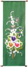 Green Butterflies :: Oriental Scrolls