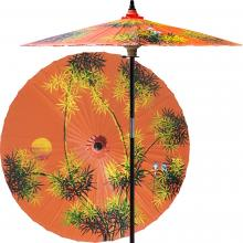 Bamboo Forest (Passionfruit Orange) :: Outdoor Patio Umbrellas