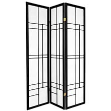 Hinaga Japanese Shoji Screen (Black Finish) :: Japanese Shoji Screens