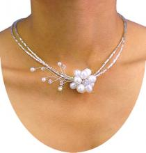 Floral Elegance -- White Pearls :: One of a Kind Specials