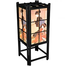 Japanese Geisha Lamp (Black Finish) :: Japanese Lamps
