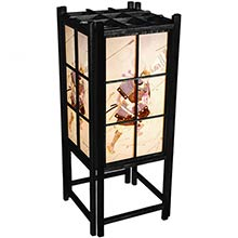Japanese Samurai Lamp (Black Finish) :: Japanese Lamps