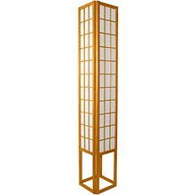 6 Foot Japanese Tower Lamp (Honey Finish) :: Japanese Lamps